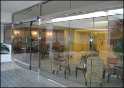 all glass with fixed sidelite